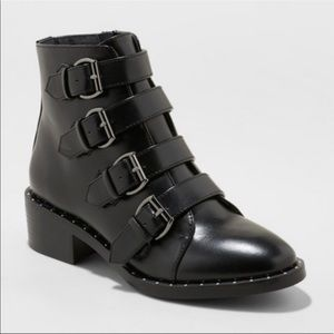 💕 A New Day Nikko Ankle Combat Moto Studded Boots